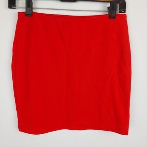 American Apparel Pointe Skirt, red, large